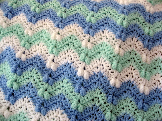 Free Pattern For Single Crochet Ripple Afghan : CROCHET BABY RIPPLE BLANKET PATTERN Crochet Patterns